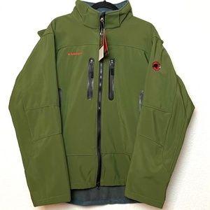 NWT MAMMUT Green Fleece Lined Alpine Zip Jacket S
